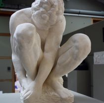 Chris Burbridge - Crouching Boy after Michelangelo