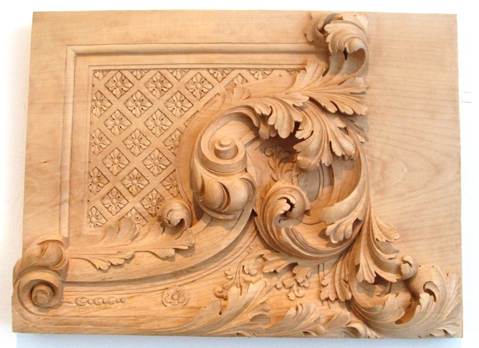 Wooden carving