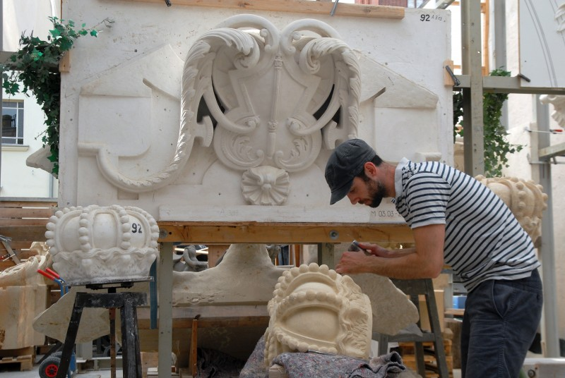 Carving for the berliner schloss projekt city guilds