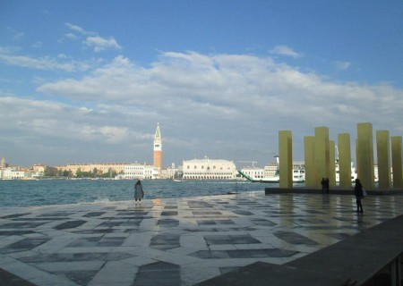 The view from San Giorgio Maggiore Abbey, were conservation graduates winners of the Venice in Peril Internship spend two months working on conservation projects within the Palladio church and abbey complex