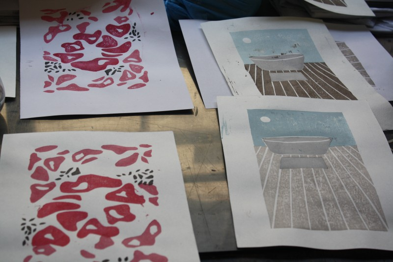 Woodblock printing workshop with Master Motoharu Asaka
