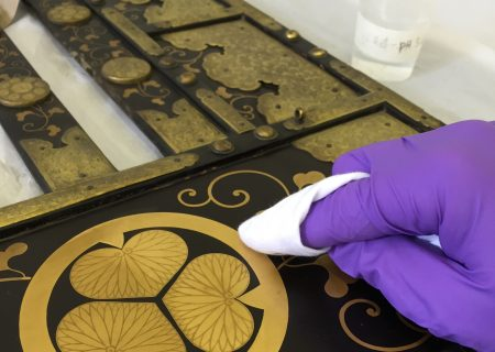 Cleaning lacquer.